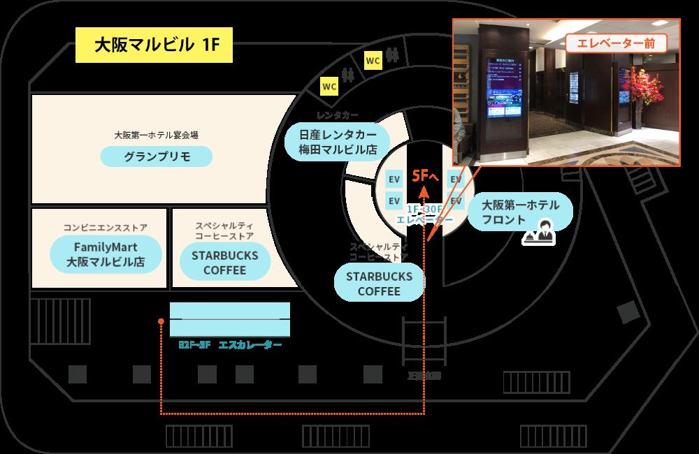 ミセルクリニック大阪梅田院 アクセスマップ