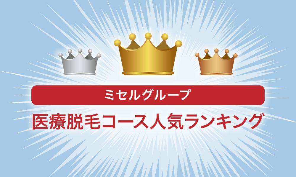 ミセルクリニック【全身・VIO・脇・顔・髭etc】医療脱毛コース人気ランキング