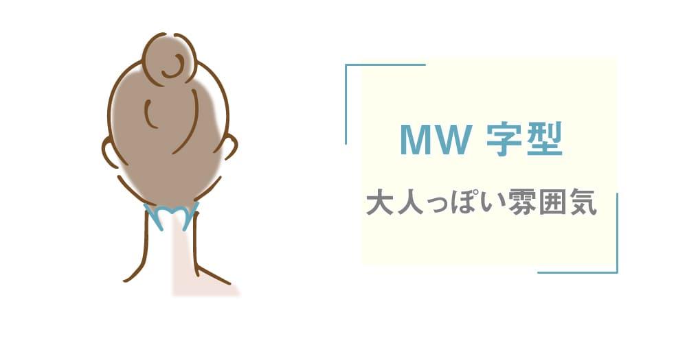 ミセルクリニック うなじ 医療脱毛 MW字型