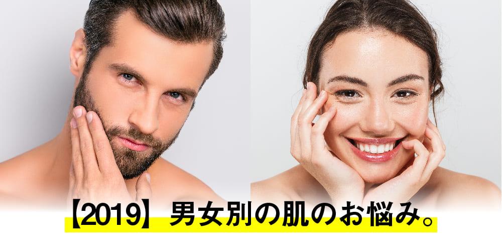 ミセルクリニック 【2019年度】男女別の肌のお悩み。